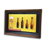 Tyskie beer picture in wooden frame