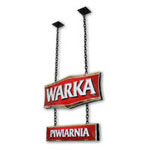 Warka beer - metal sign board