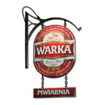 Warka - circular metal sign board